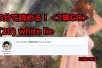 【ビジネス英会話Tips71 <2単GO> (20) white lieの意味と使い方が5分で読める!】